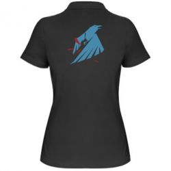 Женская футболка поло Infamous: Second Son - Karmic titles two blue