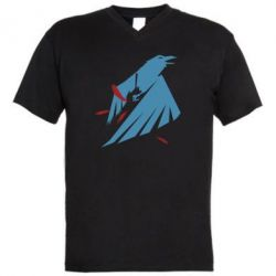 Мужская футболка  с V-образным вырезом Infamous: Second Son - Karmic titles two blue
