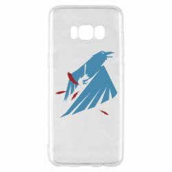 Чехол для Samsung S8 Infamous: Second Son - Karmic titles two blue
