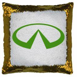 Подушка-хамелеон Infiniti logo