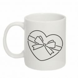 Кружка 320ml Heart with a bow