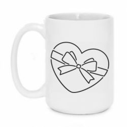 Кружка 420ml Heart with a bow