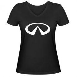 Женская футболка с V-образным вырезом Infinity - FatLine