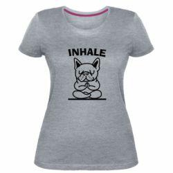 Жіноча стрейчева футболка Inhale