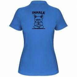 Жіноча футболка поло Inhale