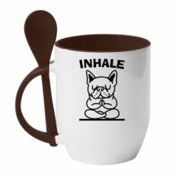 Кружка з керамічною ложкою Inhale