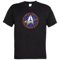 Мужская футболка  с V-образным вырезом Inited Federation of Planets - FatLine