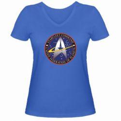 Женская футболка с V-образным вырезом Inited Federation of Planets - FatLine