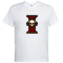 Мужская футболка  с V-образным вырезом инквизиция warhammer - FatLine