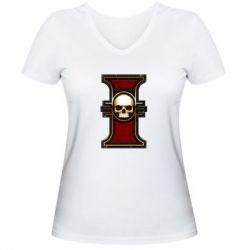 Женская футболка с V-образным вырезом инквизиция warhammer - FatLine