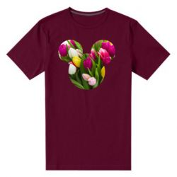 Чоловіча стрейчева футболка Inner world flowers mickey mouse