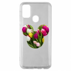 Чохол для Samsung M30s Inner world flowers mickey mouse