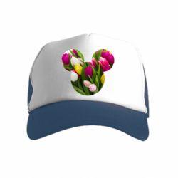 Дитяча кепка-тракер Inner world flowers mickey mouse