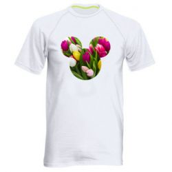 Чоловіча спортивна футболка Inner world flowers mickey mouse
