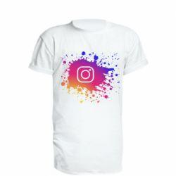 Удлиненная футболка Instagram spray