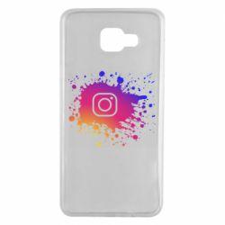 Чехол для Samsung A7 2016 Instagram spray