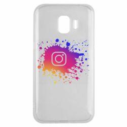 Чехол для Samsung J2 2018 Instagram spray
