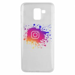 Чехол для Samsung J6 Instagram spray