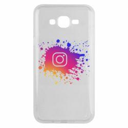 Чехол для Samsung J7 2015 Instagram spray