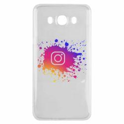 Чехол для Samsung J7 2016 Instagram spray