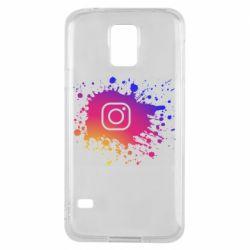 Чехол для Samsung S5 Instagram spray