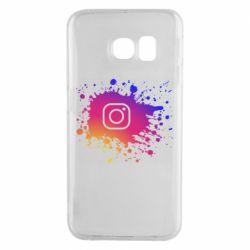Чехол для Samsung S6 EDGE Instagram spray
