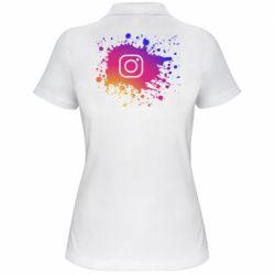 Женская футболка поло Instagram spray