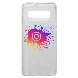 Чехол для Samsung S10+ Instagram spray