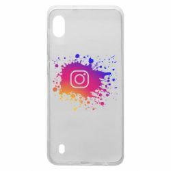 Чехол для Samsung A10 Instagram spray