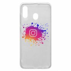 Чехол для Samsung A20 Instagram spray