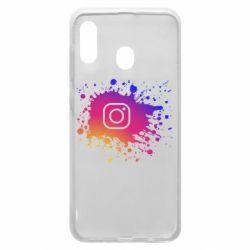 Чехол для Samsung A30 Instagram spray
