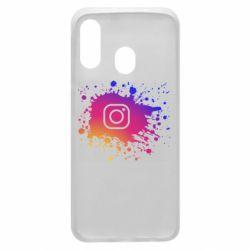 Чехол для Samsung A40 Instagram spray