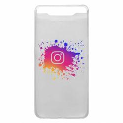 Чехол для Samsung A80 Instagram spray