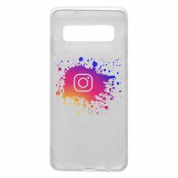 Чехол для Samsung S10 Instagram spray