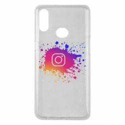 Чехол для Samsung A10s Instagram spray