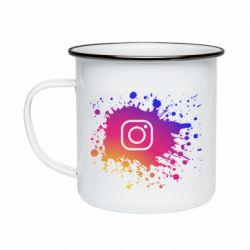 Кружка эмалированная Instagram spray