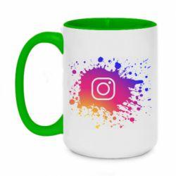 Кружка двухцветная 420ml Instagram spray
