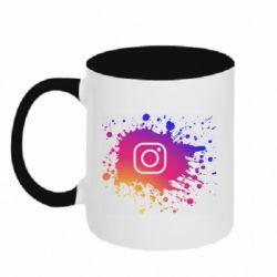 Кружка двухцветная 320ml Instagram spray