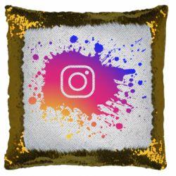 Подушка-хамелеон Instagram spray