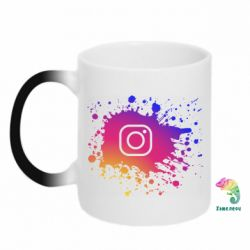 Кружка-хамелеон Instagram spray