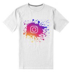 Мужская стрейчевая футболка Instagram spray