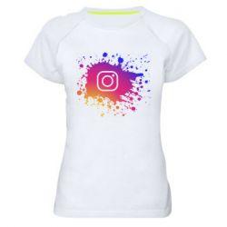 Женская спортивная футболка Instagram spray