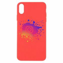 Чехол для iPhone X/Xs Instagram spray
