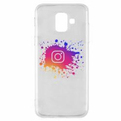 Чехол для Samsung A6 2018 Instagram spray