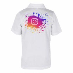 Детская футболка поло Instagram spray