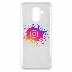 Чехол для Samsung A6+ 2018 Instagram spray