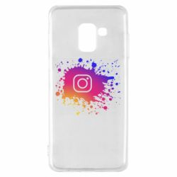 Чехол для Samsung A8 2018 Instagram spray