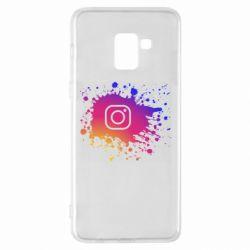 Чехол для Samsung A8+ 2018 Instagram spray