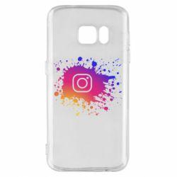 Чехол для Samsung S7 Instagram spray