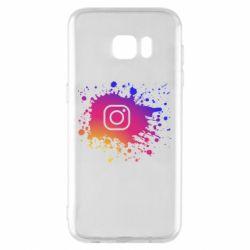 Чехол для Samsung S7 EDGE Instagram spray